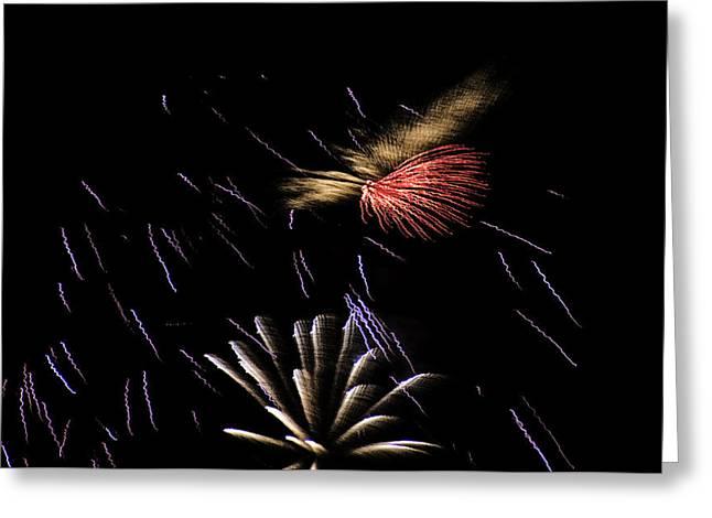 Fireworks Fun 2 Greeting Card by Marilyn Hunt