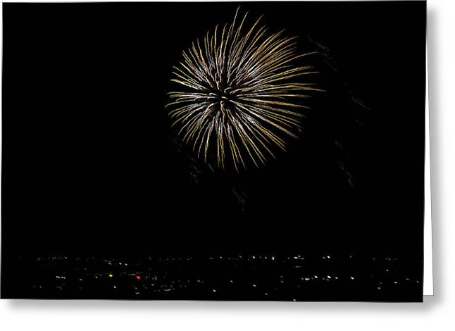 Fireworks Fun 8 Greeting Card by Marilyn Hunt