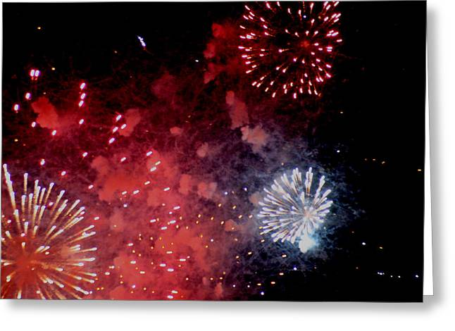 Greeting Card featuring the photograph Fireworks II by Kelly Hazel