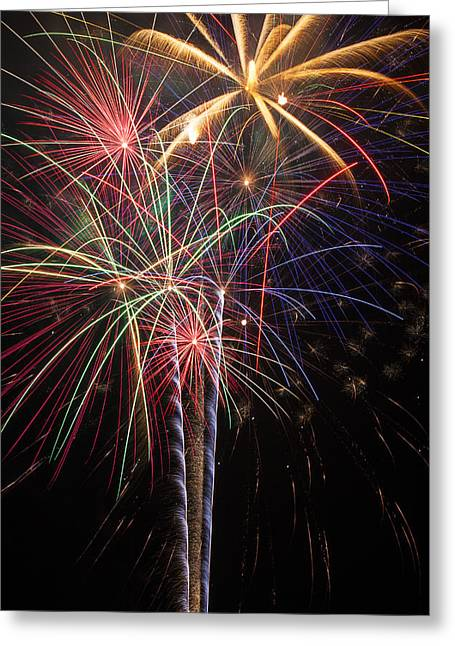 Fireworks In Celebration  Greeting Card
