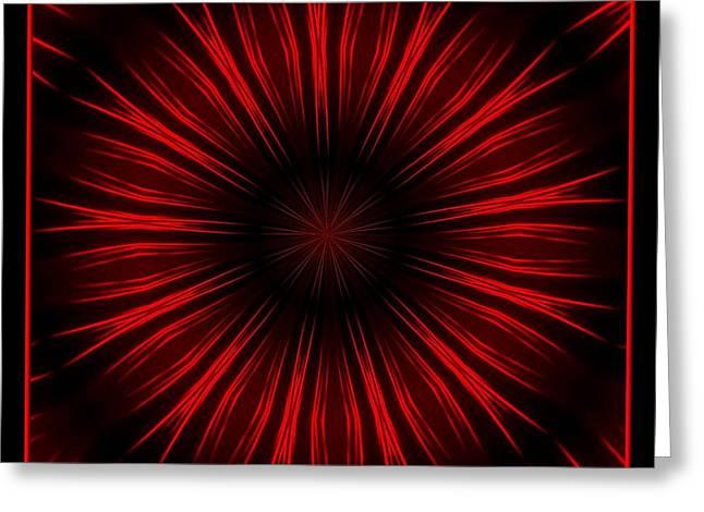 Fireworks Kaleidoscope 10 Greeting Card by Rose Santuci-Sofranko