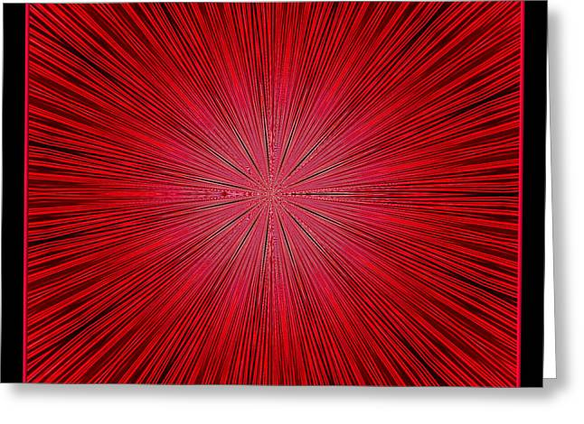Fireworks Kaleidoscope 14 Greeting Card by Rose Santuci-Sofranko