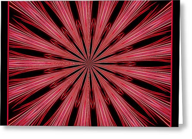 Fireworks Kaleidoscope 15 Greeting Card by Rose Santuci-Sofranko