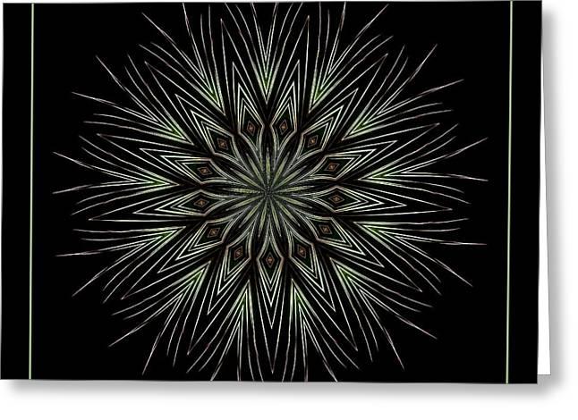Fireworks Kaleidoscope 4 Greeting Card by Rose Santuci-Sofranko