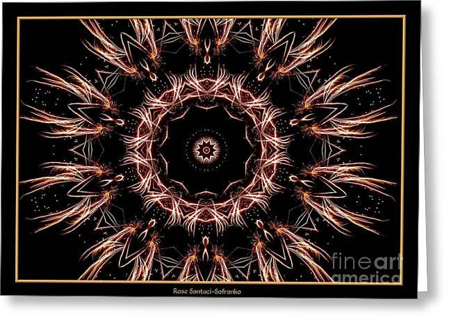 Fireworks Kaleidoscope 7 Greeting Card by Rose Santuci-Sofranko