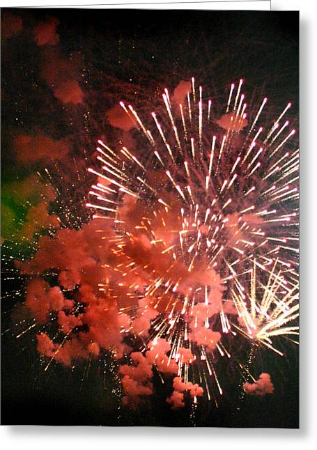 Greeting Card featuring the photograph Fireworks by Kelly Hazel