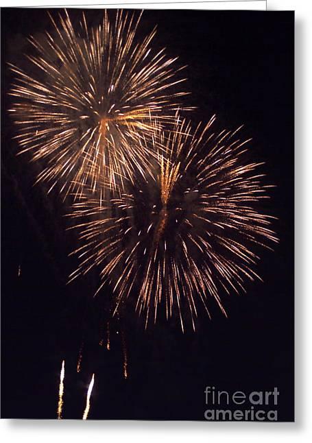 Fireworks Light Greeting Card by Sami Sarkis