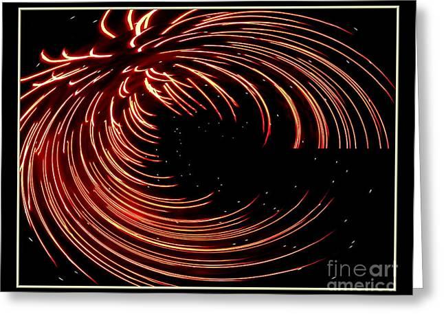 Fireworks Warp 1 Greeting Card by Rose Santuci-Sofranko