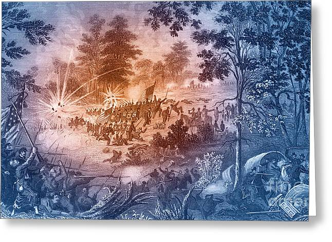 First Battle Of Bull Run, 1861 Greeting Card by Photo Researchers