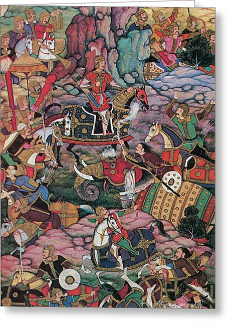 First Battle Of Panipat, 1526 Greeting Card by Photo Researchers