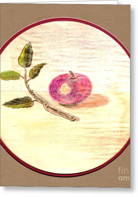First Bite Of Apple Greeting Card