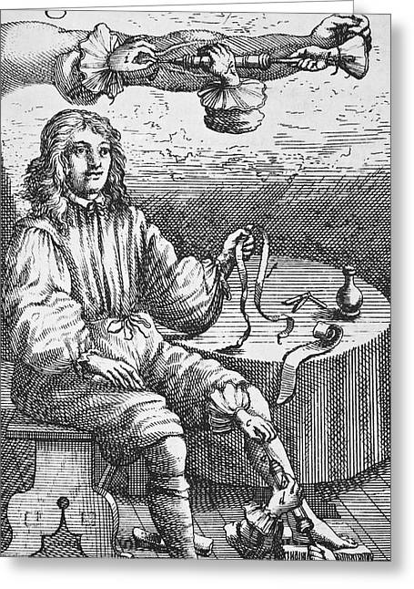 First Intravenous Injection, 17th Century Greeting Card