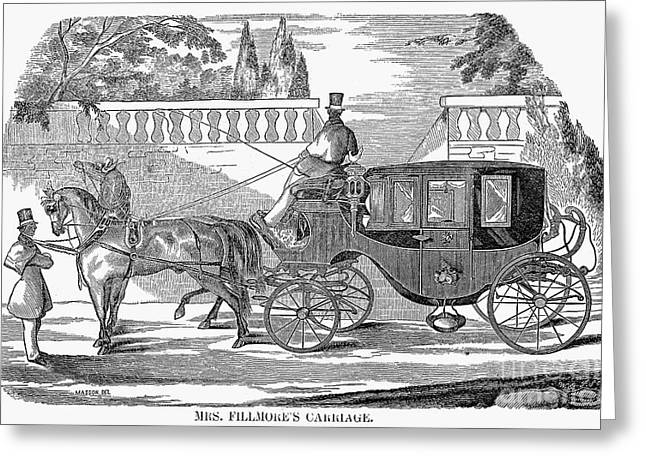 First Lady Carriage, 1851 Greeting Card by Granger