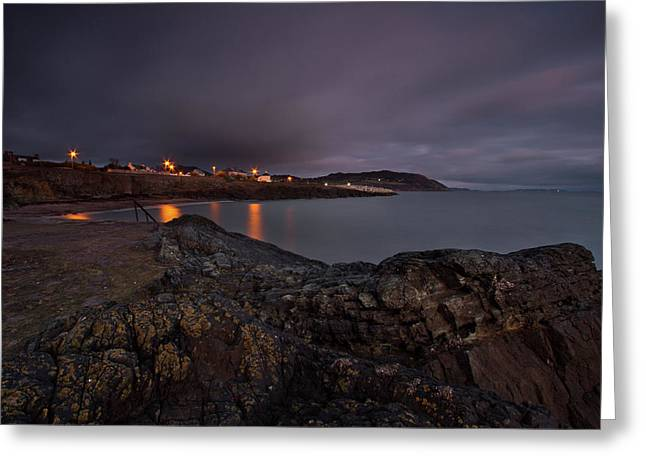 First Light At Greystones Greeting Card