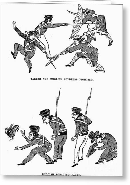 First Opium War: Soldiers Greeting Card by Granger