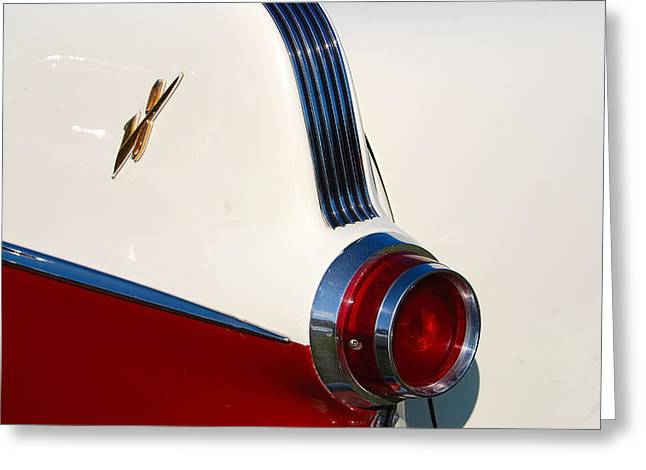 Greeting Card featuring the photograph First Pontiac V8 1955 by John Schneider