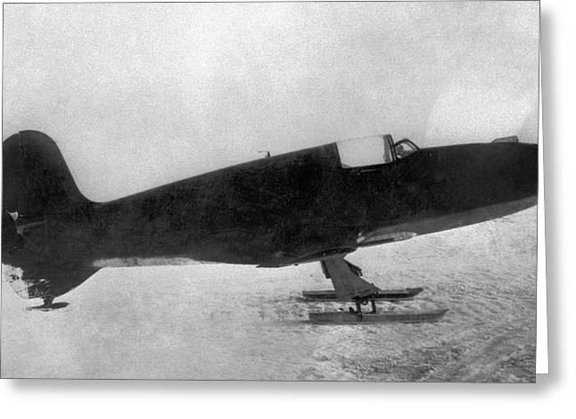 First Soviet Rocket Aeroplane Greeting Card by Ria Novosti