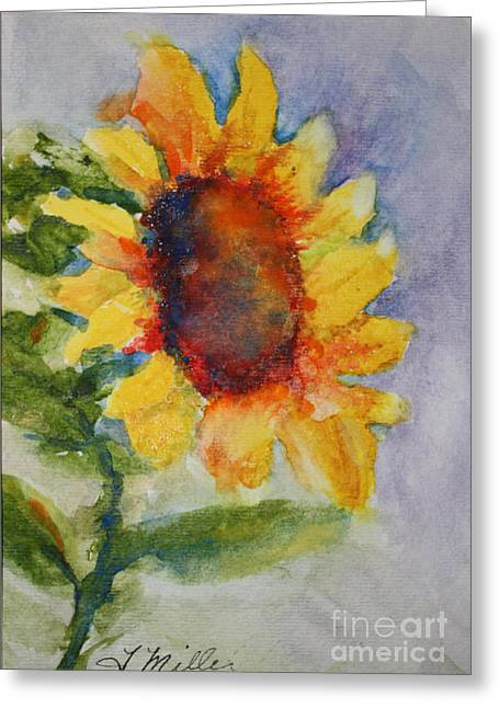 First Sunflower Greeting Card by Terri Maddin-Miller