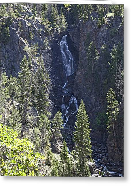 Fish Creek Falls Co. Greeting Card by James Steele