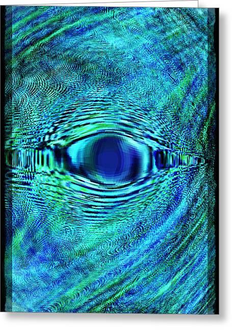Fish Eye Greeting Card by Leslie Revels Andrews