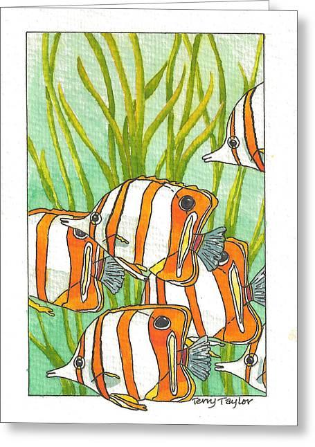 Fish School Greeting Card