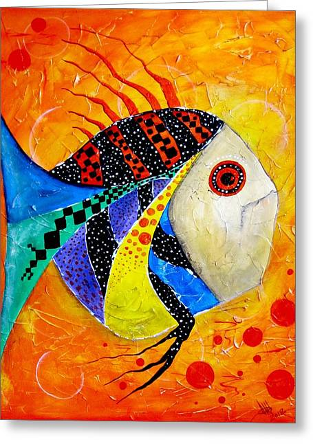 Fish Splatter II Greeting Card