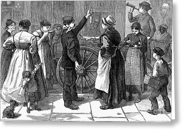 Fish Vendor, 1874 Greeting Card by Granger