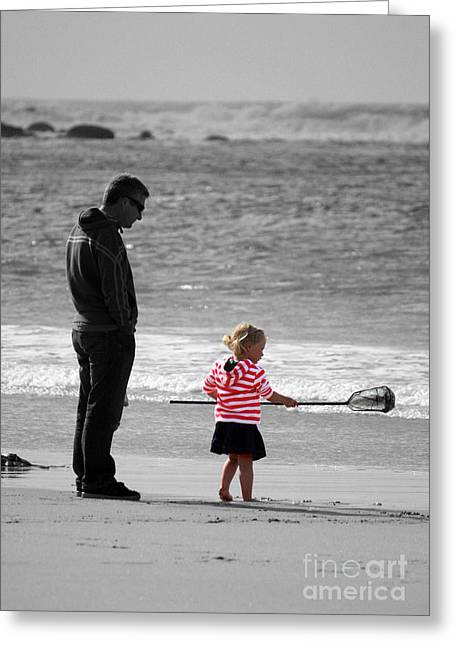 Greeting Card featuring the photograph Fish With Me Daddy by Terri Waters