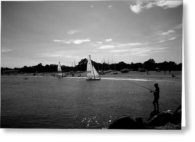 Fisherman Greeting Card by Gerard Yates