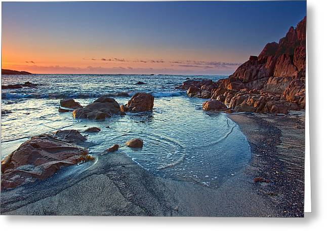 Greeting Card featuring the photograph Fishermans Bay Sunrise by Paul Svensen