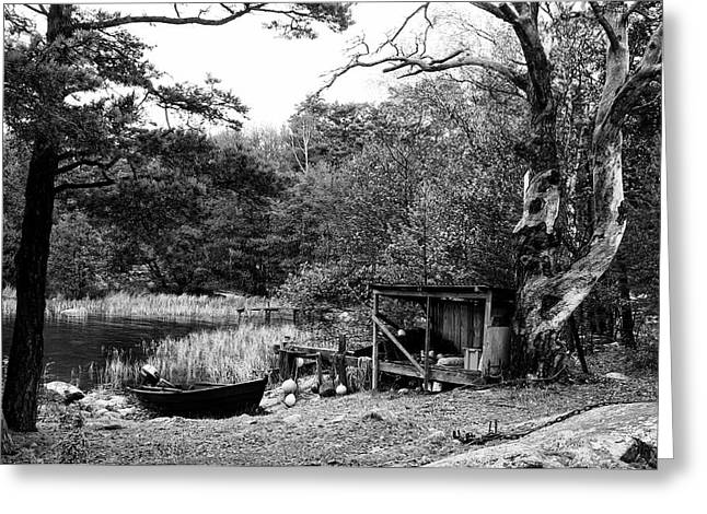 Fishermans Camp After The Summer Greeting Card