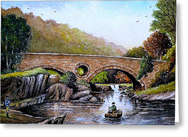 Fishermans Delight Greeting Card by Andrew Read