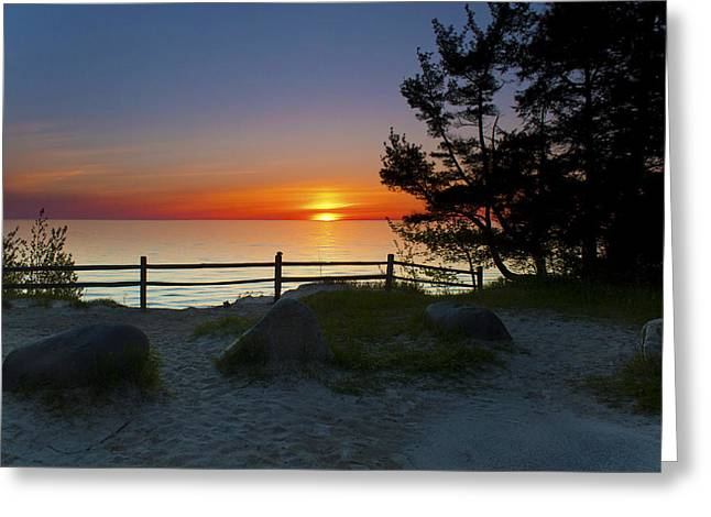 Fisherman's Island State Park Greeting Card by Megan Noble