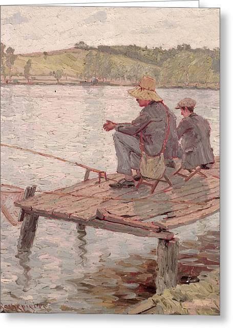 Fishermen Greeting Card by Pierre Roche