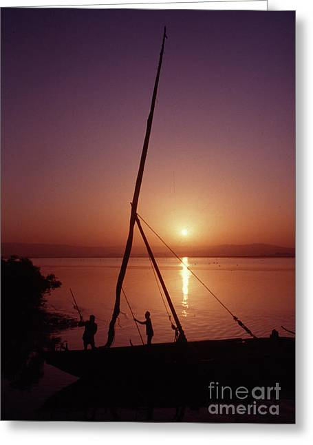 Fishermen Greeting Card by Vilas Malankar