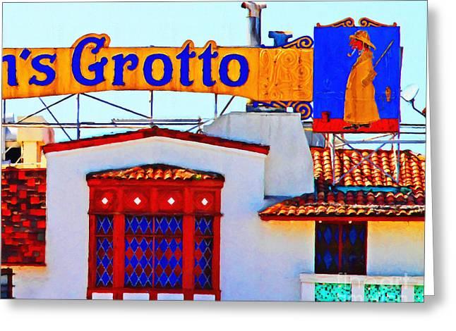 Fishermens Grotto Restaurant At Fishermans Wharf . San Francisco California . 7d14350 Greeting Card by Wingsdomain Art and Photography