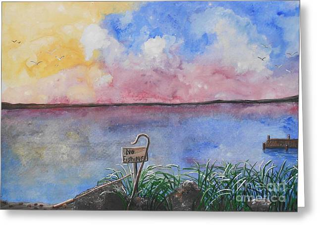 Fishers Of Men Greeting Card by Barbara McNeil