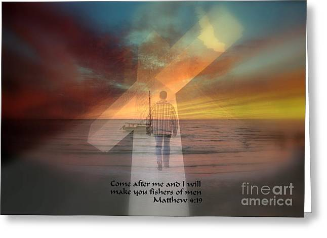 Fishers Of Men Greeting Card by Rick Rauzi