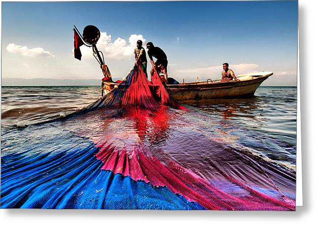 Greeting Card featuring the photograph Fishing - 11 by Okan YILMAZ