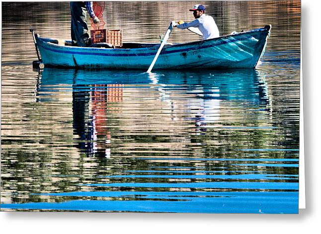 Greeting Card featuring the photograph Fishing - 14 by Okan YILMAZ