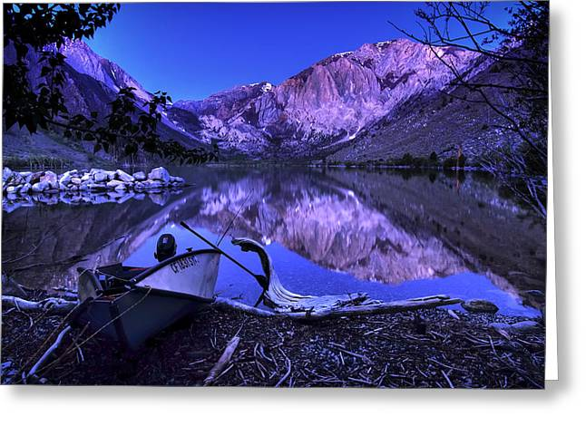 Fishing At Convict Lake Greeting Card by Sean Foster