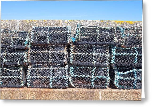 Fishing Baskets Greeting Card by Tom Gowanlock