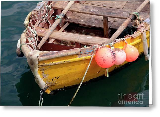 Fishing Boat Greeting Card by Carlos Caetano