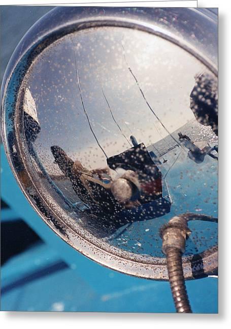 Fishing Boat Reflection Greeting Card