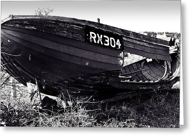 Fishing Boat Wreck Greeting Card by Sharon Lisa Clarke