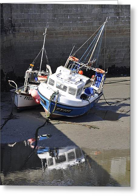 Fishing Boats Greeting Card by Charlotte May-Photography