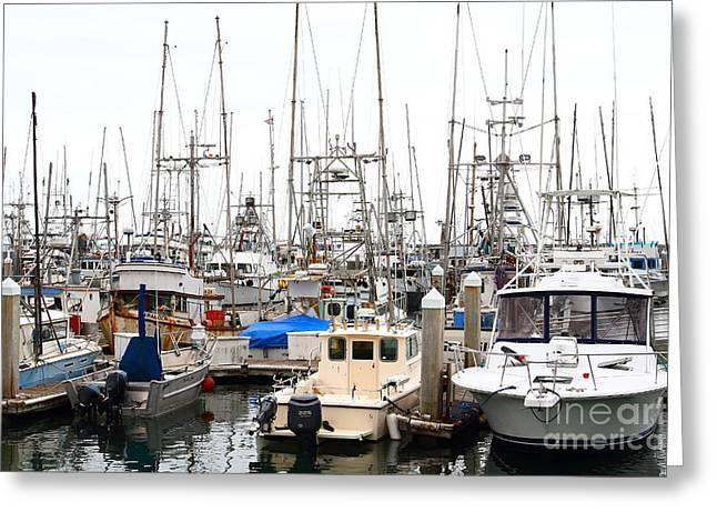 Fishing Boats In Pillar Point Harbor At Half Moon Bay California . 7d8184 Greeting Card