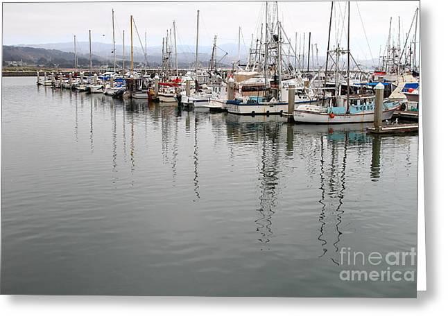 Fishing Boats In Pillar Point Harbor At Half Moon Bay California . 7d8187 Greeting Card