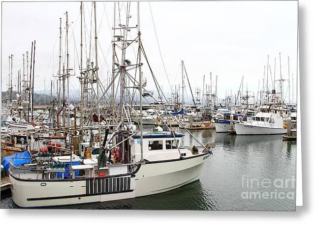Fishing Boats In Pillar Point Harbor At Half Moon Bay California . 7d8194 Greeting Card