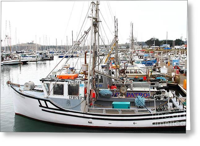 Fishing Boats In Pillar Point Harbor At Half Moon Bay California . 7d8197 Greeting Card